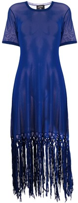 Jean Paul Gaultier Pre Owned fringed tulle dress