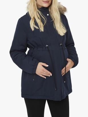 Mama Licious Mamalicious Jess Parka Jacket, Navy