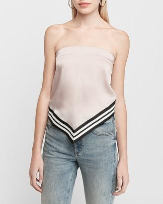 Express Varsity Stripe Handkerchief Tube Top