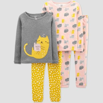 Just One You Made By Carter's Toddler Girls' 4pc Cat Pajama Set - Just One You® made by carter's