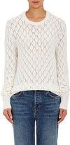 The Elder Statesman Women's Dia Sweater-WHITE