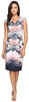 Maggy London Shadow Garden Scuba Sheath Dress