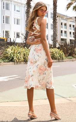 Showpo Just Hold My Hand dress In peach floral - 4 (XXS) Dresses