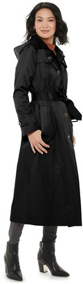 London Fog Women's TOWER by Maxi Trench Coat