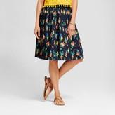 Merona Women's floral pleated skirt