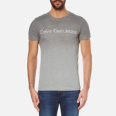 Calvin Klein Tear Regular Fit Tshirt - Silver Scone