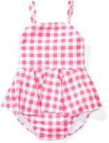 Ralph Lauren Girl Gingham Two-Piece Swimsuit