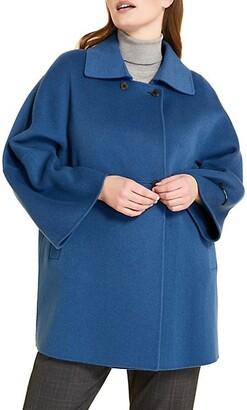 Marina Rinaldi, Plus Size Natalia Double-Face Wool Coat