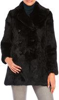 Adrienne Landau Real Rabbit Fur Peacoat