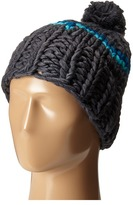 Hat Attack Neon Stripe Skully with Pom
