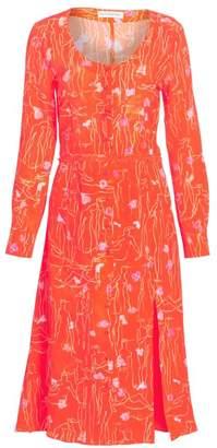 Altuzarra Print Silk Midi Dress