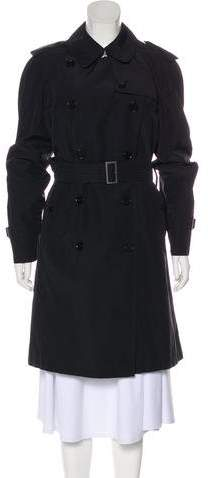 Burberry Double-Breasted House Check-Lined Coat