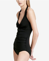 Calvin Klein Twist Halter One-Piece Tummy-Control Swimsuit Women's Swimsuit