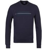 Armani Jeans Navy Front Concealed Pocket Sweatshirt