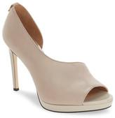 Calvin Klein &Saira& Peep Toe Demi-d&Orsay Platform Pump (Women)