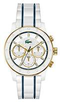Lacoste 2000845 40mm Gold Plated Stainless Steel Case Silicone Mineral Women's Watch