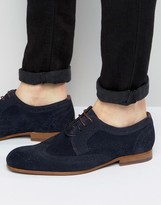 Ted Baker Granet Suede Derby Brogue Shoes