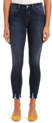 Mavi Jeans Adriana Destroyed Hem Ankle Skinny Jeans