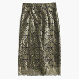 J.Crew Collection deco skirt in metallic French lace
