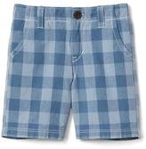 Gap Check flat front shorts