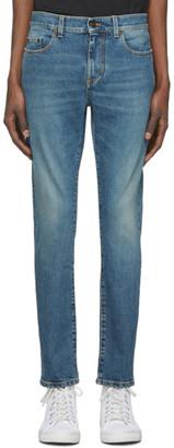 Saint Laurent Blue Skinny 5 Pocket Jeans