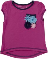 Design History Floral Hi-Lo Top (Toddler/Kids) - Peony/Indigo-5