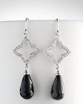 David Yurman Quatrefoil Black Onyx Earrings