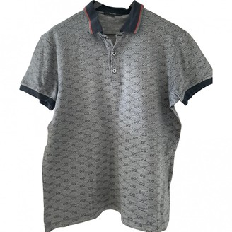 Gucci Grey Synthetic Polo shirts
