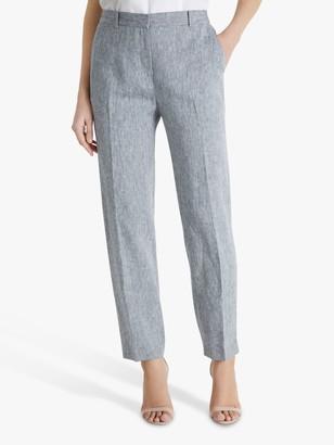 Fenn Wright Manson Marcelle Linen Trousers, Black/Ivory