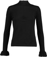 Mother of Pearl Sula ruched cotton and modal-blend jersey top