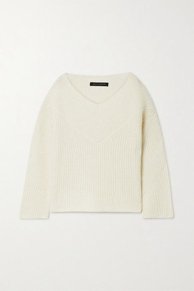 Sally LaPointe Ribbed Cashmere Sweater - Cream