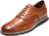 Cole Haan Zerogrand Leather Wing-Tip Oxford, British Tan