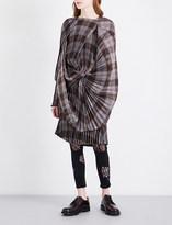 Junya Watanabe Tartan twisted woven dress