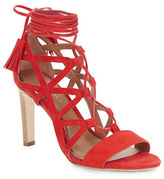 Elie Tahari Hurricane Suede Lace-Up Cage Pumps