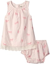 Hatley Flower Horses Lace Dress & Bloomer Set (Infant)