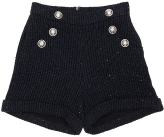 Balmain Wool Blend Boucle Shorts