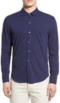 Zachary Prell Howard Trim Fit Cotton Jersey Sport Shirt