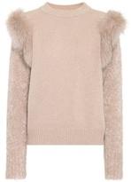Agnona Fur-trimmed sweater