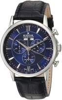 Edox Men's 10501 3 BUIN Les Bemonts Analog Display Swiss Quartz Black Watch