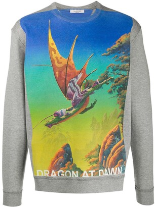 Valentino Dragon at Dawn sweatshirt