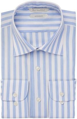 Suitsupply Classic Fit Stripe Cotton & Modal Dress Shirt