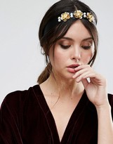 Asos Occasion Pretty Metal Flower Headband