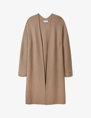 The White Company Open-front wool-blend coatigan
