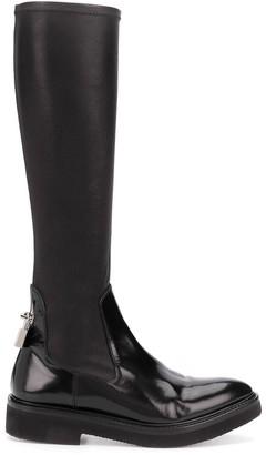 Christopher Kane Padlock Knee-High Boots