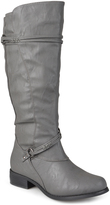 Journee Collection Gray Harley Extra Wide-Calf Boot