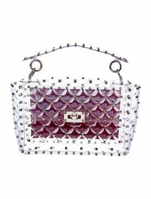Valentino Medium Rockstud Spike Bag Clear