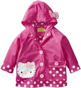 Western Chief Little Girls' Toddler Hello Kitty Cutie Dot Rain Coat