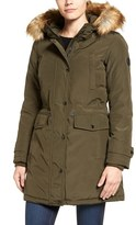 MICHAEL Michael Kors Women's Faux Fur Trim Down & Feather Fill Parka