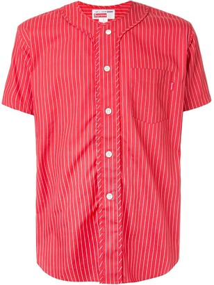 Supreme CDG pinstripe baseball jersey