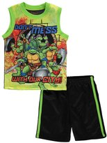 """Teenage Mutant Ninja Turtles TMNT Little Boys' Toddler """"Our City"""" 2-Piece Outfit"""
